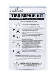 Homesmiths Tire Repair Tool Kit, Red/Grey