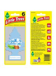 Little Trees Summer Linen Card Air Freshener, Blue