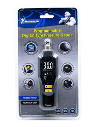Michelin Programmable Digital Tyre Pressure Gauge, Black