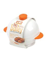 Joie Big Boiley 4 Egg Microwave Boiler, White/Orange