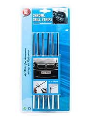 All Ride Chrome Grill Strips, 25 cm, 6 Pieces
