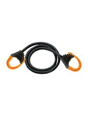 Masterlock Snap Hook Bungee, Black, 60cm/80cm