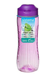 Sistema 800ml Tritan Active Plastic Water Bottle, Purple