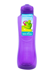 Sistema 800ml Twist 'N' Sip Gripper Plastic Water Bottle, Purple