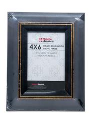 Home Basics Rustic Wood Finish Picture Frame, 10 x 15cm, Black