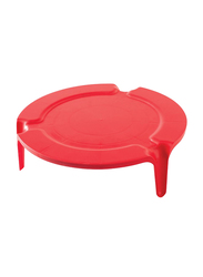 Nordic Ware 28cm Melamine Round Microwave Plate Stacker, Red