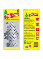 Little Trees Pure Steel Paper Air Freshener, Silver