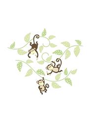 Brewster Wallpop Monkeying Around Wall Art Kit, Multicolor