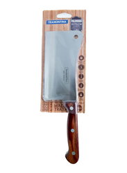Tramontina 6-inch Polywood Cleaver, Silver/Brown