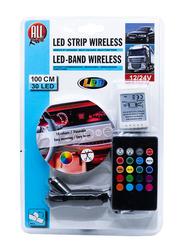 All Ride Wireless LED Strip, 30 LED, 100cm