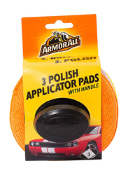 Armor All 3 Polish Applicator Pads with Handle, 3 Pieces