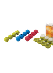 Joie 3-Piece Silicone Rectangle Ice Ball Tray, Multicolor