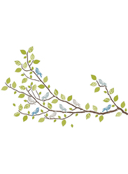 Brewster Sitting In A Tree Large Wall Art Kit, Multicolor