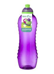 Sistema 620ml Plastic Squeeze Bottle, Purple