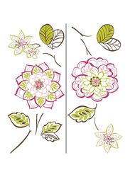 Brewster Des Fleurs Large Wall Art Kit, Multicolor