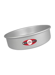 Fat Daddio'S 10 inch Round Cake Pan with Solid Bottom, 25.4x25.4x7.62 cm, Grey
