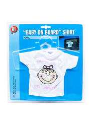 All Ride Baby on Board T-shirt, White, 17x20 cm