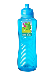 Sistema 800ml Twist 'N' Sip Gripper Water Bottle, Blue
