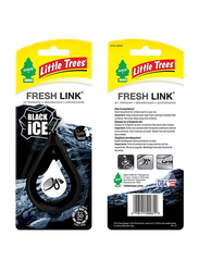 Little Trees Fresh Link Black Ice Air Freshener, Black
