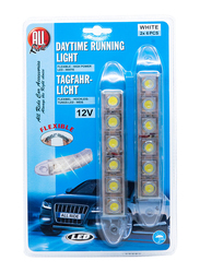 All Ride Flexible Daytime Running Time, 12V, 12 LED, 2 Pieces