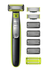 Philips One Blade Hybrid Electric Face, Body Trimmer and Shaver, Qp2630/60, Green/Black