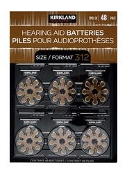Kirkland Signature Hearing Aid Batteries Zinc Air, Size 312, 48 Pieces, Brown