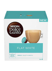 Nescafe Dolce Gusto Flat White Coffee Capsules, 16 Capsules