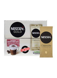 Nescafe Gold Cappuccino Unsweetened Taste Low Sugar Instant Coffee, 50 Sachets
