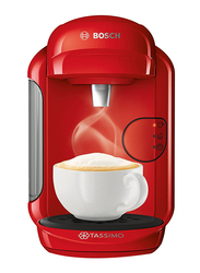 Bosch Tassimo Vivy 2 Coffee Machine, 1300W, TAS1403GB, Red