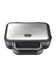 Breville VST041 Stainless Steel Deep Fill Sandwich Toast Maker, 850W, Silver/Black