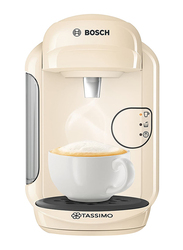 Bosch Tassimo Vivy 2 Coffee Machine, 1300W, TAS1407GB, Cream Beige