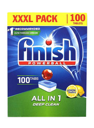 Finish Powerball All in One Automatic Dishwasher Detergent, 100 Tablets