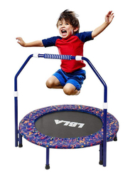 LBLA Kids Indoor and Outdoor Trampoline with Adjustable Handel and Safety Padded Cover, Ages 3+