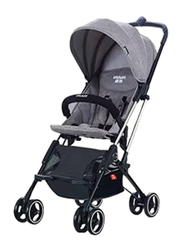 Whiz BeBe HD688 Lightweight Folding Baby Single Stroller, Grey