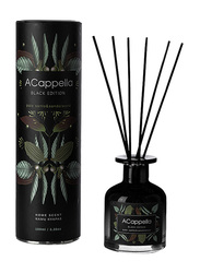 Acappella Black Edition Paolo Santo & Sandalwood Luxury Home Fragrance Scent with Amber Sticks, 100ml, Black