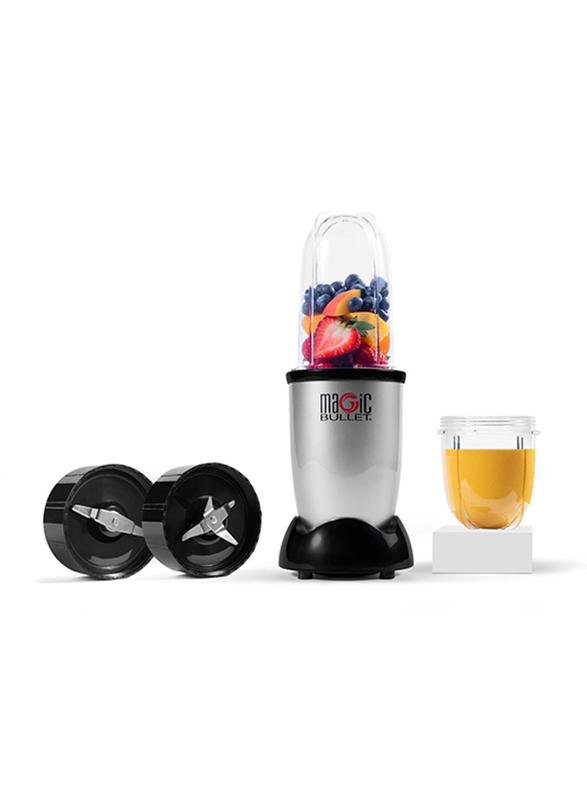 Nutribullet Magic Bullet 6-Piece 600ml Electric Stainless Steel/Plastic Blender Set, 400W, MB4-0612, Silver/Black