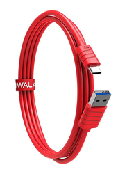 Iwalk 1-Meter Premium USB Type-C Charging Cable, USB 3.0 Type A Male to USB Type-C for USB Type-C Supported Devices, Red