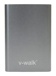 V-Walk 5000mAh Hi Density Power Bank, with Micro-USB Input, with Micro-USB Cable, HT-K3, Grey