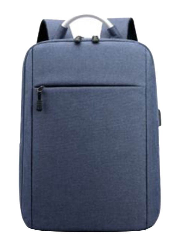 V-Walk Anti-Theft Notebook Backpack Laptop School Bag with USB Charging Port, Blue