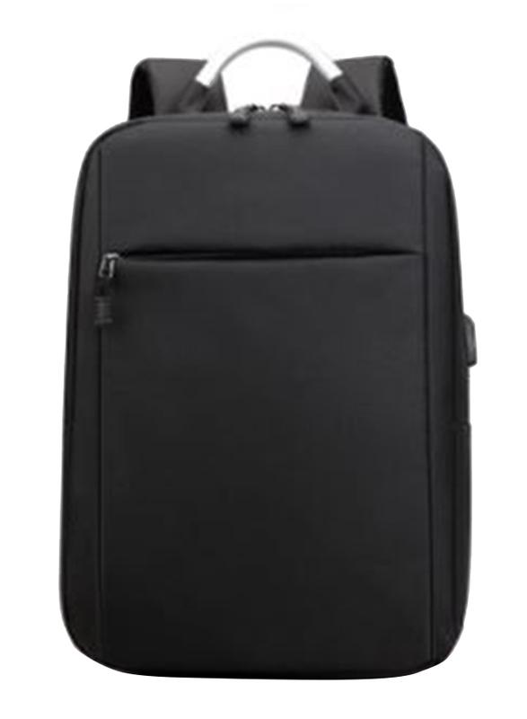 V-Walk Anti-Theft Notebook Backpack Laptop School Bag with USB Charging Port, Black