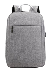 V-Walk Anti-Theft Notebook Backpack Laptop School Bag with USB Charging Port, Grey
