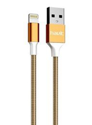 Havit 1-Meter Lighting Cable, Fast Charging USB A Male to Lightning for Apple Devices, Gold