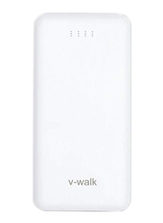 V-Walk 10000mAh Lithium-Polymer Power Bank, with Micro-USB Input, with Micro-USB Cable, HT-A10, White