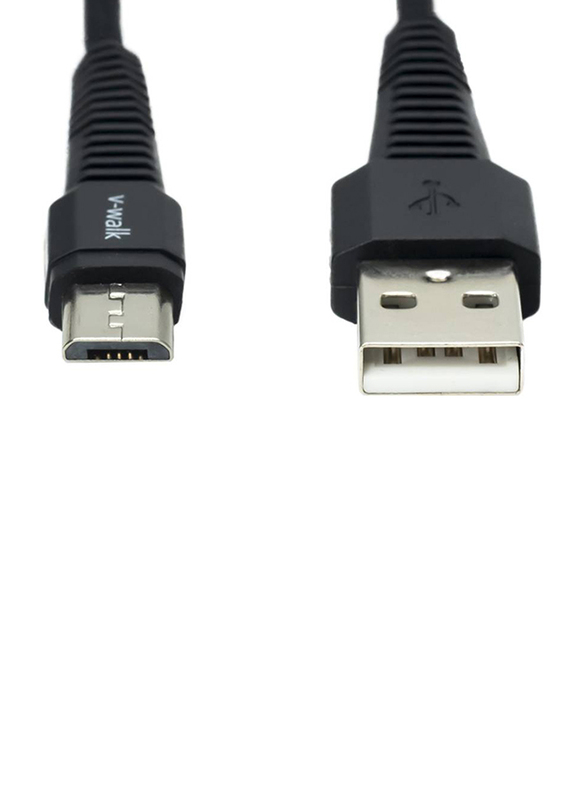 V-Walk 1-Meter Micro-B USB Charging Cable, Fast charging USB Type A Male to Micro-B USB for Micro-B USB Devices, Black