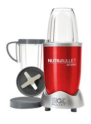Nutribullet 12-Piece 680ml Electric Stainless Steel/Plastic Blender Set, 600W, NBR-1212R, Red