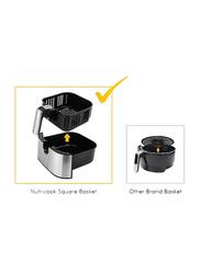 Nutri Cook Rapid 3.6L Electric Stainless Steel Air Fryer, 1500W, NC-RAF36, Silver/Black
