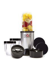 Nutribullet Magic Bullet 11-Piece 532ml Electric Stainless Steel/Plastic Blender Set, 400W, MB4-1012, Silver/Black