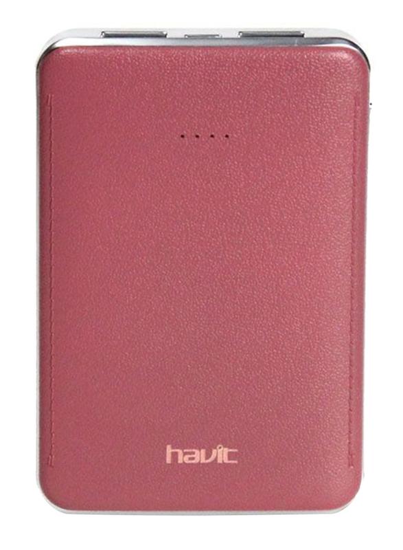 Havit 5000mAh Fast Charging Power Bank, with Micro-USB Input, PB-004X, Red/Brown
