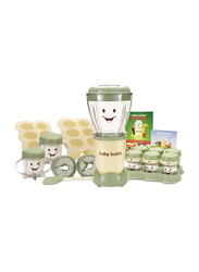 Nutribullet Baby Bullet 22-Piece 950ml Electric Plastic/Silicone Blender Set, 200W, BBR-2212M, Green/Cream