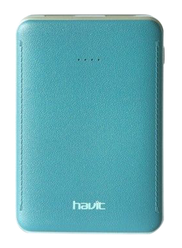 Havit 5000mAh Fast Charging Power Bank, with Micro-USB Input, PB-004X, Blue